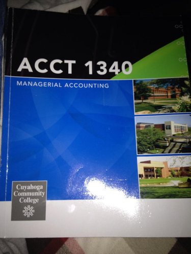 9780077548414: Acct 1340 Managerial Accounting