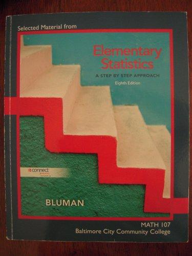 Allan Bluman Elementary Statistics Step Approach 8th Abebooks
