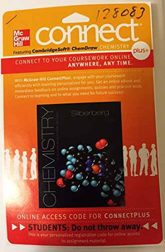 9780077548650: Connect Plus Access Card for Chemistry: The Molecular Nature of Matter and Change (Printed Access Code)