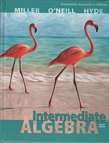 9780077548711: Aie Intermediate Algebra 4th.ed. Hardcover Miller