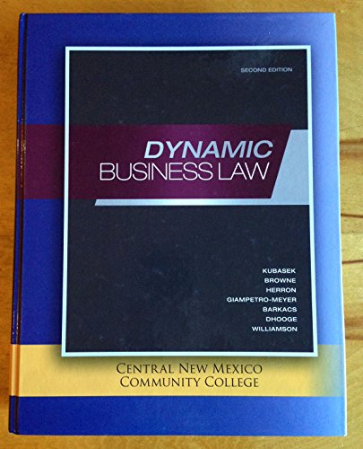 9780077549015: Dynamic Business Law