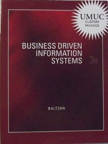 9780077549459: Business Driven Information Systems (Custom) - 3rd edition