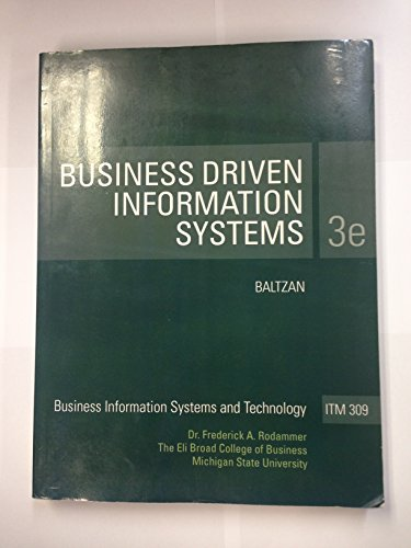 9780077549671: Business Driven Information Systems