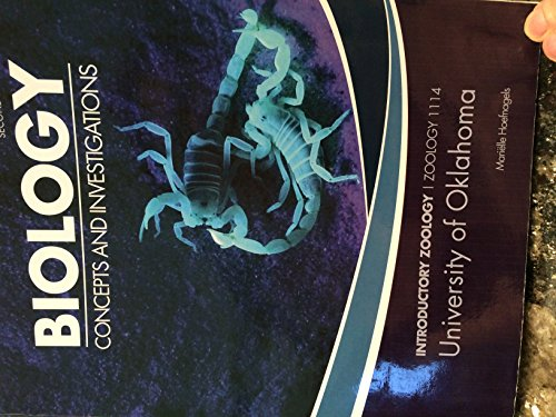 9780077549947: Biology Concepts and Investigations (Introductory Zoology 114 for University of Oklahoma)
