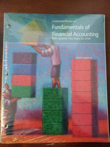9780077550448: Fundamentals of Financial Accounting with Updated Class Notes for UTSA (Fundamentals of Financial Accounting)