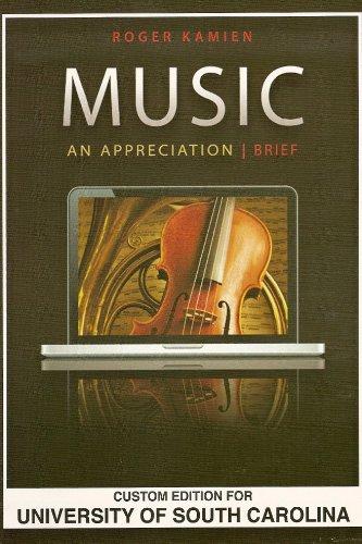 9780077552183: Music, An Appreciation, Breif. Custom Edition for The University of South Carolina