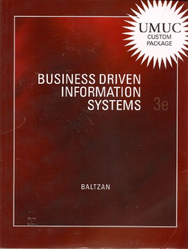 9780077552329: Business Driven Information Systems 3e (Umuc Custom Package)