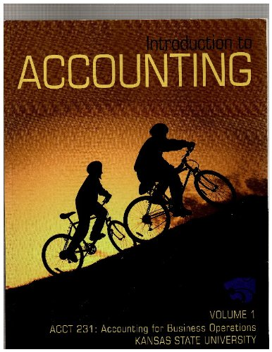 9780077559670: Introduction to Accounting - Volume 1 Acct 231