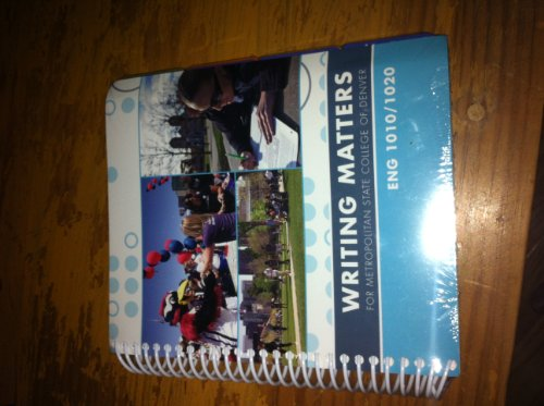 9780077560577: Writing Matters for Metropolitan State College of Denver (Writing Matters)