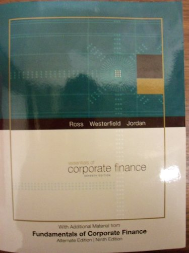 9780077561253: Essentials of Corporate Finance with Additional Material from Fundamentals of Corporate Finance