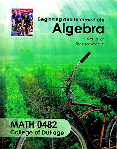 9780077562205: Beginning and Intermediate Algebra, Third Edition for College of DuPage