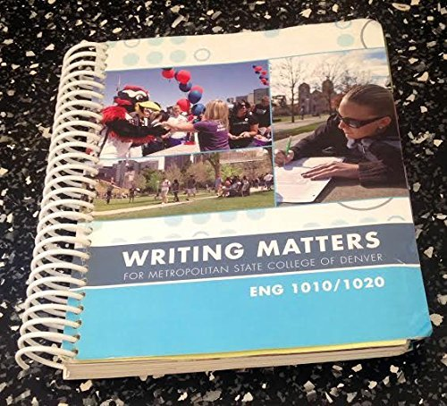 9780077562526: Writing Matters for Metropolitan State College of Denver
