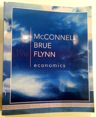 9780077563097: Economics Principles Problems and Policies Adapted Materials 19e (Economics)