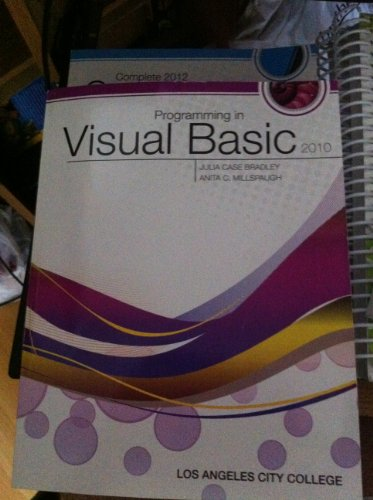 9780077565145: Programming in Visual Basic 2010