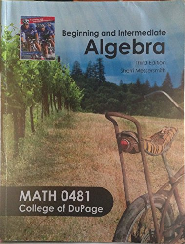9780077566692: Student Guided Notes to Accompany Beginning and Intermediate Algebra (Math 0481 College of DuPage)