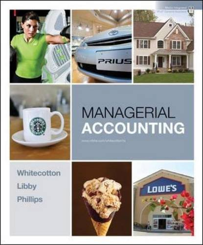 9780077566920: Managerial Accounting (Managerial Accounting Portland State University BA 213 Edition)