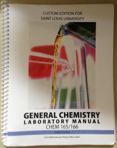9780077566951: General Chemistry Laboratory Manual CHEM 165/166, 3rd Edition (Saint Louis University)