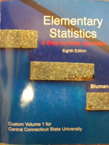 ELEMENTARY STATISTICS,VOL.1 >C: BLUMAN