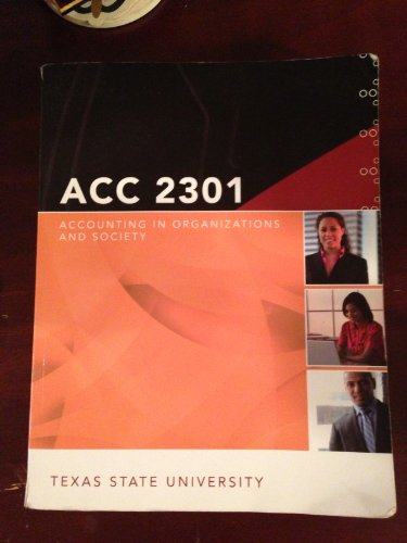 9780077568108: Accounting in Organizations and Society (ACC 2301-Texas State University)