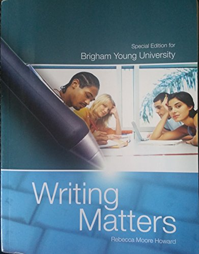 9780077568450: Writing Matters Special Edition for BYU