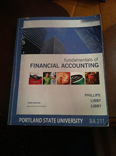 9780077568979: Fundamentals of Financial Accounting (Edition for Portland State University BA 211)