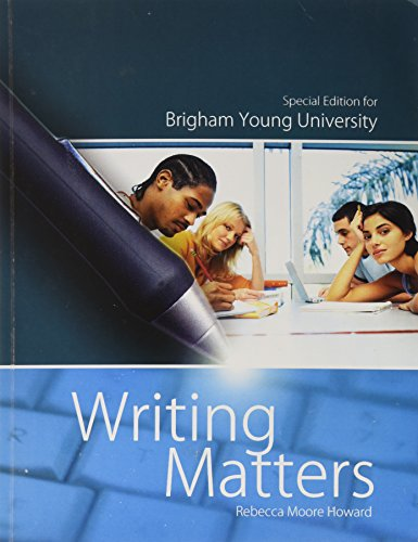 9780077569778: Writing Matters Special Edition for Brigham Young University