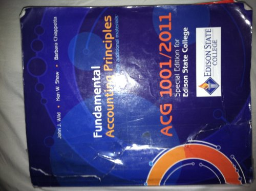 9780077569907: Fundamental Accounting Principles ACG 1001/2011 Special Edition for Edison State College