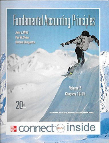 9780077570156: Fundamental Accounting Principles: Volume 2, Chapters 12-25