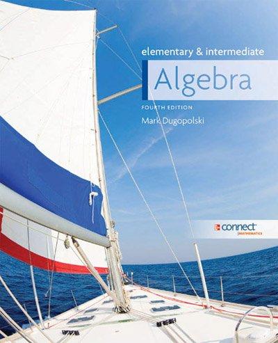 9780077570668: Elementary & intermediate Algebra
