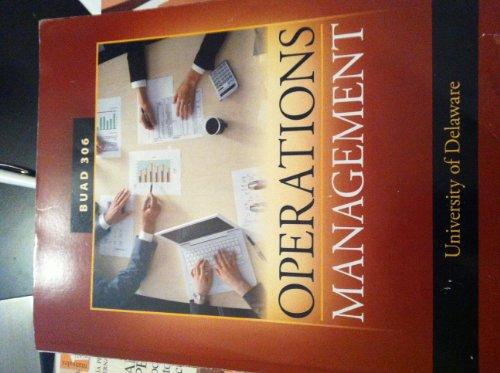9780077571153: OPERATIONS MANAGEMENT >CUSTOM<