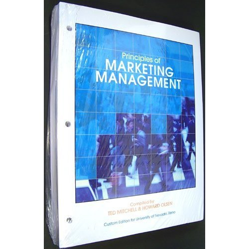 9780077571825: Principles of Marketing Management Custom Edition for University of Nevada, Reno [Loose Leaf]