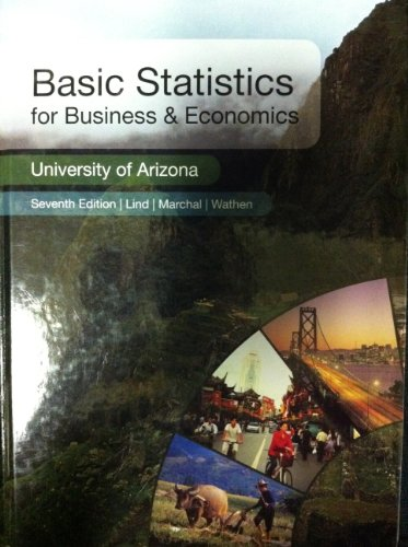 9780077572747: Basic Statistics for Business & Economics (University of Arizona Seventh Edition)