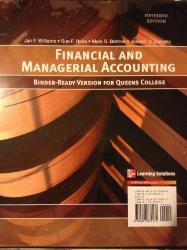 9780077573072: Financial and Managerial Accounting (Binder-Ready Version For Queens College)