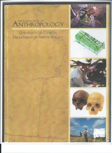 9780077573706: Introduction to Anthropoplog:univesity of Georgia Department of Anthropology