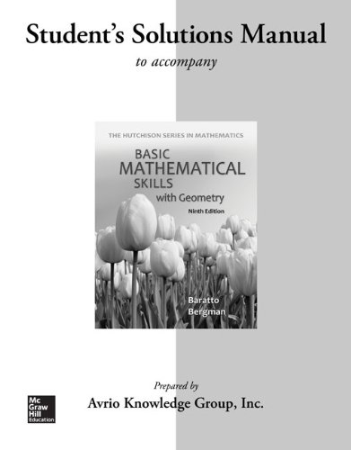 9780077574017: Student Solutions for Manual Basic Math Skills with Geometry