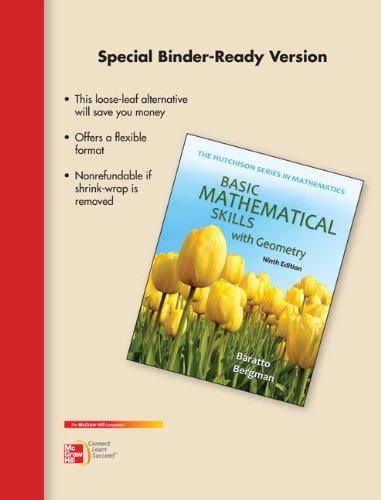 9780077574055: Loose Leaf Version for Basic Math Skills with Geometry