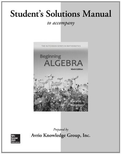 9780077574147: Student Solutions Manual for Beginning Algebra