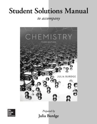 Student Solutions Manual for Chemistry: Burdge, Julia