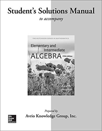 9780077574406: Student Solutions Manual for Elementary & Intermediate Algebra