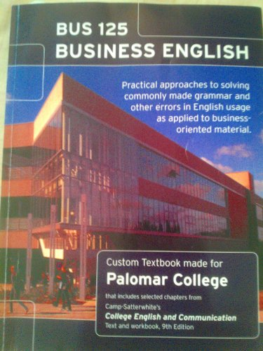 9780077574840: BUS 125: Business English (Custom Textbook made for Palomar College)