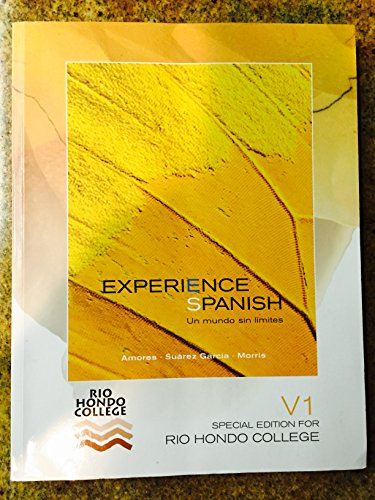 9780077575601: Experience Spanish V1: Special Edition for Rio Hondo College textbook with Workbook