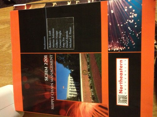 9780077577834: Supply Chain Management (SCHM 2201, Custom Edition for Northeastern University)