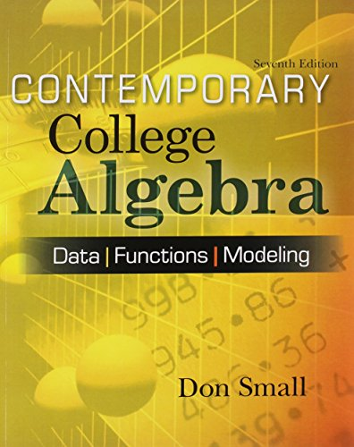 9780077579593: Contemporary College Algebra: Data, Functions, Modeling [With CDROM]