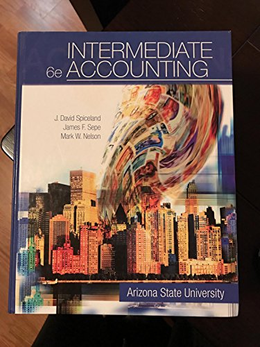 9780077579838: Intermediate Accounting Custom edition for Arizona State University