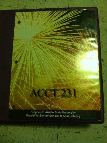 9780077581312: Acct 231 Financial Accounting