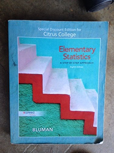 9780077583415: Elementary Statistics,A Step By Step Approach