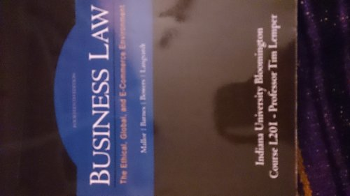 Business Law: The Ethical, Global, and E-Commerce