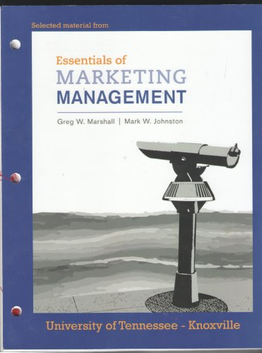 9780077583835: Selected Materials from Essentials of Marketing Management - University of Tennessee