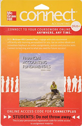 9780077584092: Connect Plus Accounting with LearnSmart 1 Semester Access Card for Financial Accounting Fundamentals