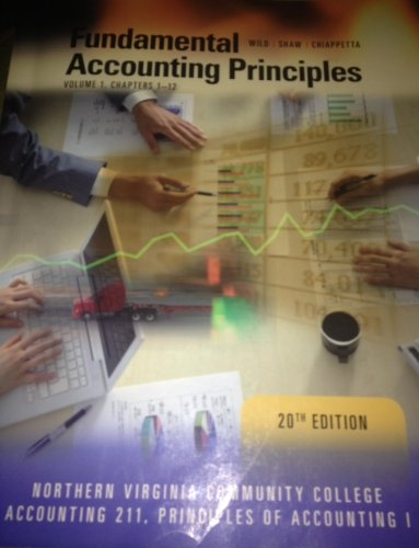 9780077584290: Fundamental Accounting Principles Volumen I, Chapter 1-12. 20th Edition